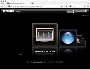 Qnap home screen