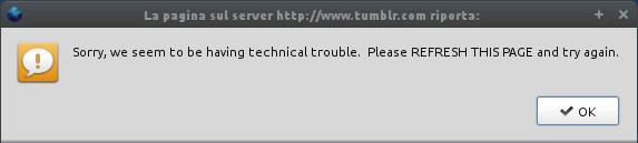 Tumblr Error